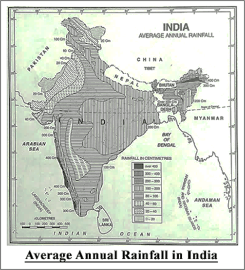 Average Annual Rainfall In India