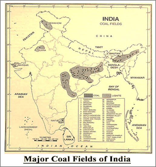 Major Coal Fields of India
