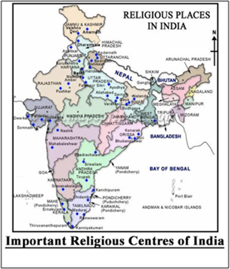 Important Religious Centres of India