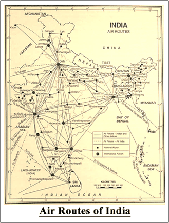 Air Routes of India