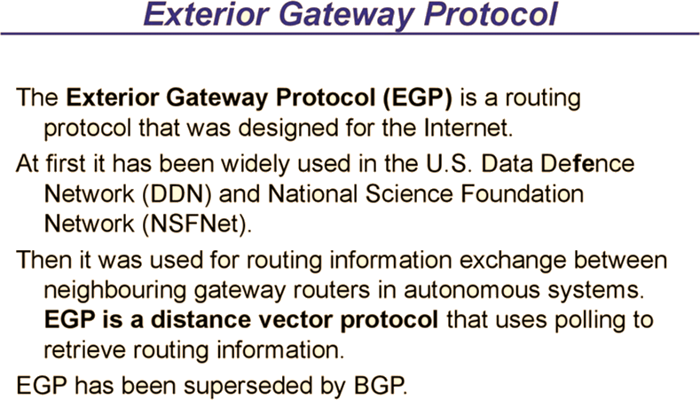 3i infotech papers sample questions 670 to 671 jobduniya for Exterior gateway protocol examples